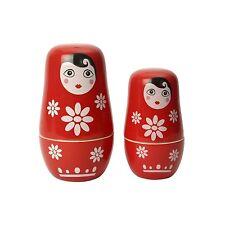 Dexam Swift Russian Doll Ceramic Measuring Cups Nesting Set Kitchen Utensil
