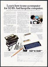 1981 Sinclair ZX80 computer photo vintage print ad
