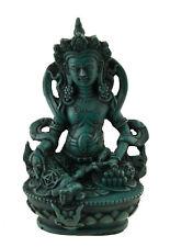 Statue tibetaine Jambhala Dieu des Richesses Vaishravana 11cm  turquoise 25540