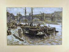 Prof. Fritz Beckert 1877 - Dresden / Mainbrücke in Würzburg / Gemälde / Aug.1915