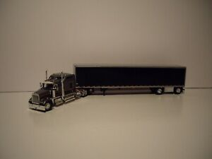 DCP FIRST GEAR 1/64 GUN METAL GRAY&BLACK KENWORTH W900 WITH 86'' SLEEPER&DRY VAN