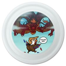 "Trump Trade War with China Red Dragon Eagle Chicken Novelty 9"" Flying Disc"