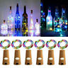 6x 2m 20LED Mini Bottle Stopper Lamp String Fairy Light Colorful Light Bar Decor
