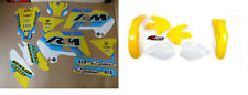 New RM 125 250 96 97 98 FLU PTS4 Graphics Sticker Plastic Kit Motocross