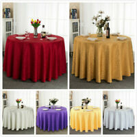 Jacquard Round Table Cloth Polyester Table Cover Wedding Party Tablecloth Modern