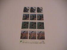 1987 THE NATURE CONSERVANCY 12 STAMP SHEET FALCON ORIOLE SONG BIRDS CRANE DUCK