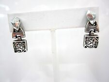 Silvertone Dangle Pierced Earrings Retired Brighton Cute Decorative