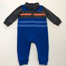TEA Collection Blue Striped Romper Outfit Size 3-6 Months