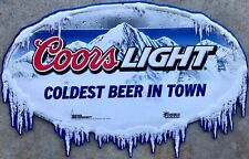 Coors Light Beer Coldest Beer In Town Tin Sign Metal Tacker New