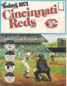 Today's 1971 Cincinnati Reds official Dell team stamp album Pete Rose John Bench