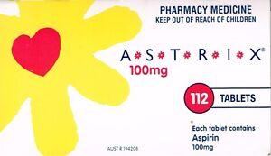 =>PRICE SMASH ASTRIX 100 MG ASPIRIN 112 TABLETS, ORIGINAL BRAND
