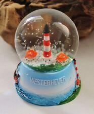 Schneekugel mit Leuchtturm Hörnum Glaskörper 4 x 5 cm Höhe 7 cm