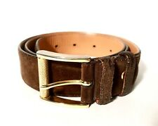 Zilli Brown Suede Leather Belt 90/36