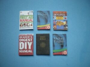 Dolls House miniatures accessories - Household books x 6