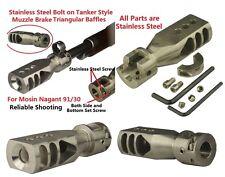 Mosin Nagant 91/30 Bolt on Tanker Competition Muzzle Brake Triangular Baffles