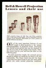 1950s BELL & HOWELL 8mm & 16mm MOVIE PROJECTOR LENSES BROCHURE