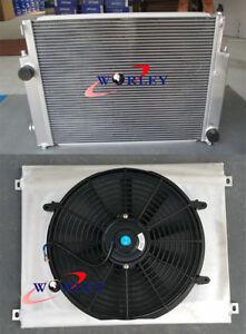 For BMW E36 M3 / Z3 /325TD /320 323 328 92-1999 MT Aluminum Radiator+Shroud+Fan