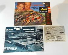 Vintage 1950s Train Catalog Lot HO Revell & Gilbert & O Gauge Plasticville