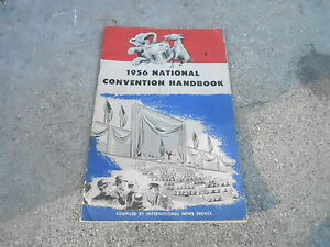 #MISC-3198 - 1956 UNITED STATES NATIONAL POLITICS CONVENTION BROCHURE BOOKLET