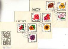"""16) FDC. Polen 1966 """" Gartenblumen  """" Mi. 1696 - 1704  (1275)"""