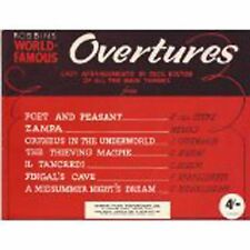 Robbins World Famous Overtures Easy Piano Arrangements Book by Cecil Bolton B39