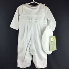 Allie Wade Baptism Linen Sailor Outfit White NWT $72 Christening 24 Months