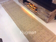 Eco Friendly Natural 100% JUTE Handmade Authentic Ethnic Design Gold Rugs Runner