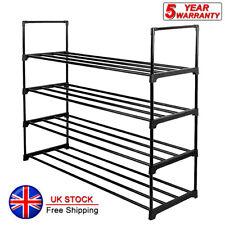 4 Tier Metal Shoe Rack Shelf 20 Pairs Standing Storage Organizer Holder Entryway