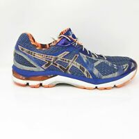 Asics Mens GT 2000 T455N Orange Blue Running Shoes Lace Up Low Top Size 11.5
