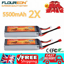 2X 3S 11.1V 35C 5500mAh Lipo Battery For RC Car Helicopter Airplane Boat Truck