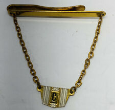 VINTAGE TIE CLIP WITH CHAIN