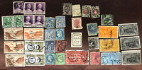 Lot Of Antique Stamps - US, Canal Zone, France, Russia, Hong Kong, Canada