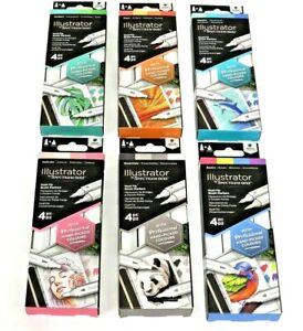 Spectrum Noir Illustrator Pens Dual Tip Brush Marker 4 Pack Multi Listing