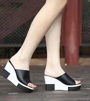 Women High Wedge High Heels Platform Peep Toe Summer Slippers Sandals Shoes Hot