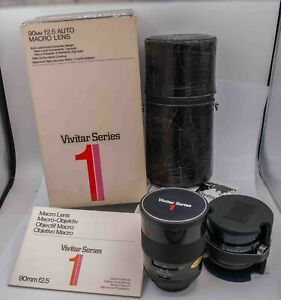 Mint Boxed - Vivitar Series 1 VMC 90mm F2.5 Pentax M42 Macro Prime Lens Bokina