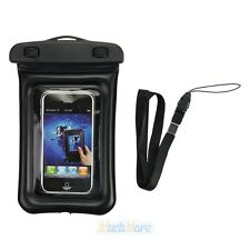 Black Waterproof Dry Pouch Bag Case For Camera Cell Phone PDA UnderWater 20M New