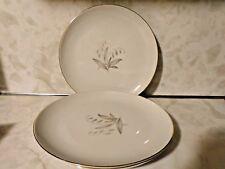 "S/4 Kaysons Fine China 1961 Golden Rhapsody Dinner Plates 9.25"" Gold Trim Japan"