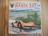 Vintage 1/24 scale Classic Industries Manta Ray & Lotus Body W/Original Box