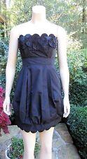 BCBG MAX AZRIA Black Satin Bubble Dress Sz 2, MINT CONDITION