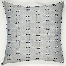 Handmade Navy Blue & Natural Tones Textured Weave  Cushion Cover 45x45 NEW