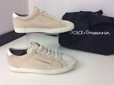 Dolce & Gabbana D&G Uomo Scarpe da ginnastica, Scamosciato, Eu42 Uk8 beige, in buonissima condizione