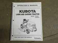 Kubota TG1860 TG1860 G TG 1860 G tractor owners & maintenance manual