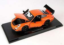 BLITZ VERSAND Porsche 911 (997) GT3 RS orange Welly Modell Auto 1:18 NEU & OVP