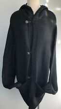 Antonio Barragan The Riff Designer Detailed Oversize Hooded Sweater Leather Trim