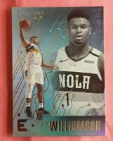 2019 Panini Chronicles essentials Zion Williamson rookie card Pelican star