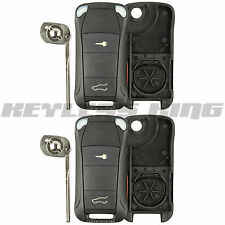2 Keyless Entry Remote Car Key Fob Shell Case for 2003-2012 Porsche Cayenne 2b