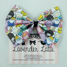 Adventure Time Character Fabric Handmade Medium Hair Bow BMO Jake Finn LSP