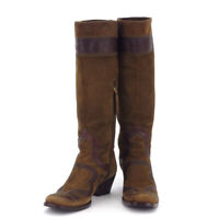 miu miu boots Western suede Auth used T17440