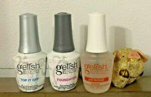 Gelish Foundation Base, Top Coat and pH Bond Gel Harmony UV Polish Soak Off