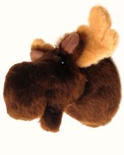 "Tiny Moose Head Shoulder Mount ""Sunny"" Maine Fair Game Hunt Stuffed Animal"